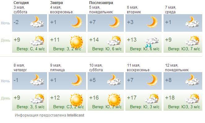 прогноз клева на завтра