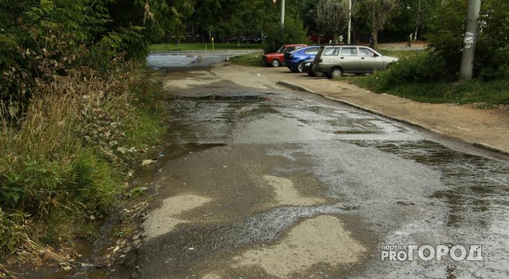 В среду в Кирове из-за дождя приостановили асфальтирование дорог