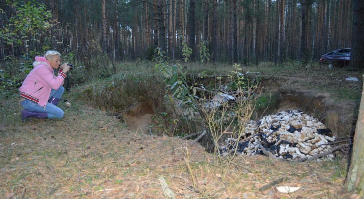 Останки животных и шприцы, найденные в пригороде Кирова, не торопятся убирать