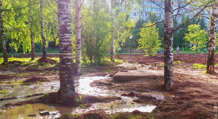 Кочуровский парк топит из-за нового фонтана
