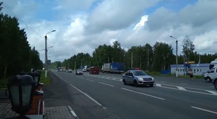 На посту в районе Нового моста заметили кортеж полицейских