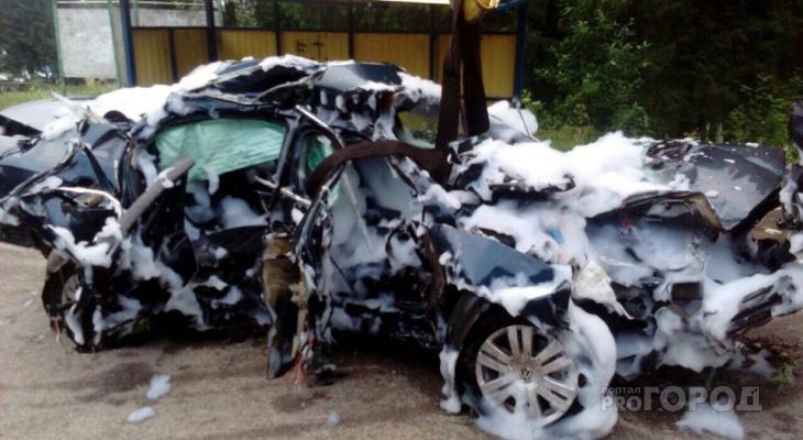 В военном городке в Юрье в аварии погибли двое мужчин