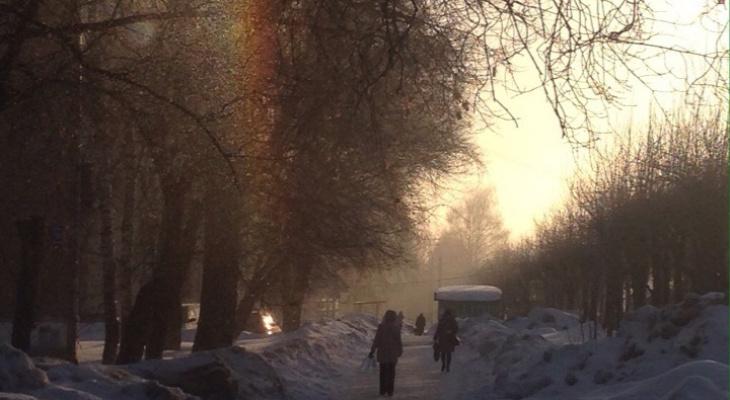 В Кирове заметили необычное атмосферное явление