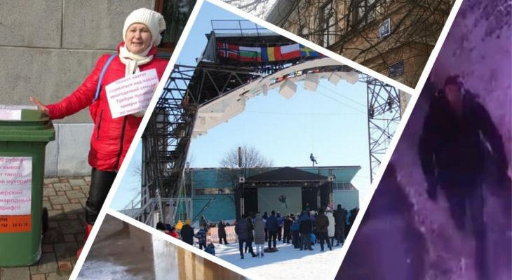 Потоп на двух улицах и пожар в центре города: главные видеоновости за неделю в Кирове