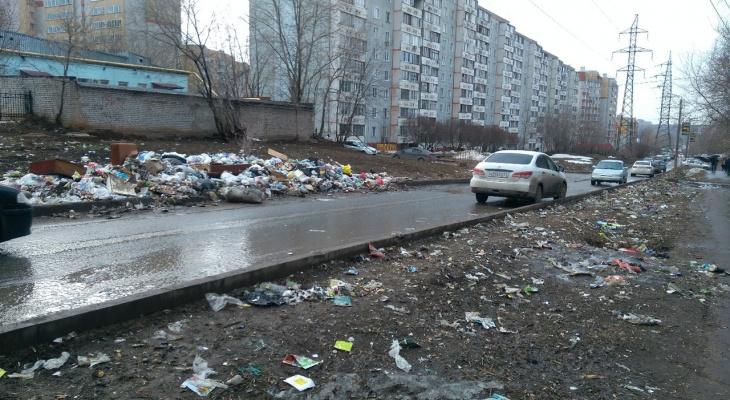 В Кирове вывезут мусор с одной из самых проблемных улиц