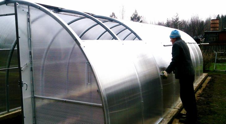 теплица с раздвижной крышей купить в новосибирске
