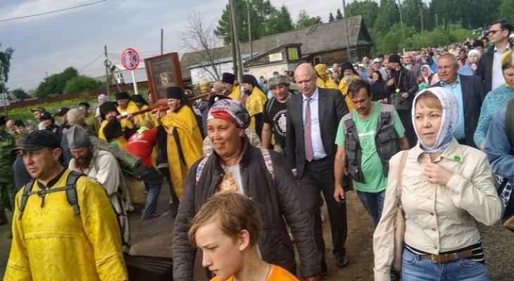 Видеорепортаж: паломники прибыли в село Великорецкое