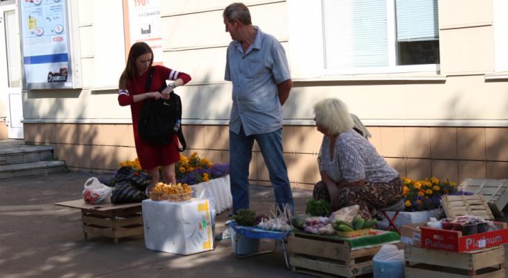 В Кирове активно штрафуют перекупщиков садовой продукции