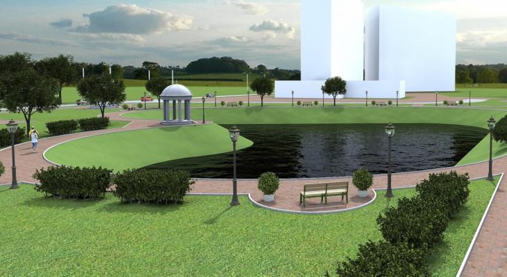 В Озерках к концу лета появится парк