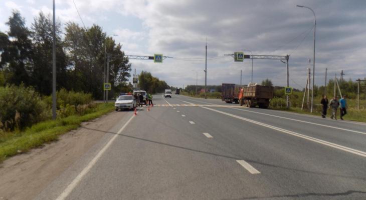 В Кировской области фура сбила человека