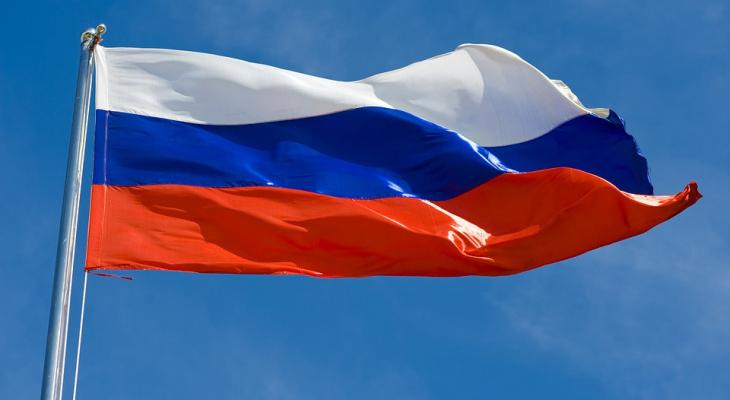 В Омутнинске украли  Государственный флаг России