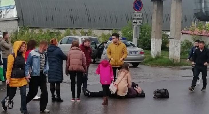В Кирове на глазах очевидцев водитель сбил женщину и скрылся