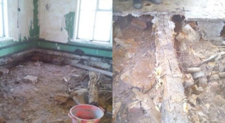 """""""Это не жизнь"""": в Чепецком районе после капремонта дома в квартире провалился пол"""