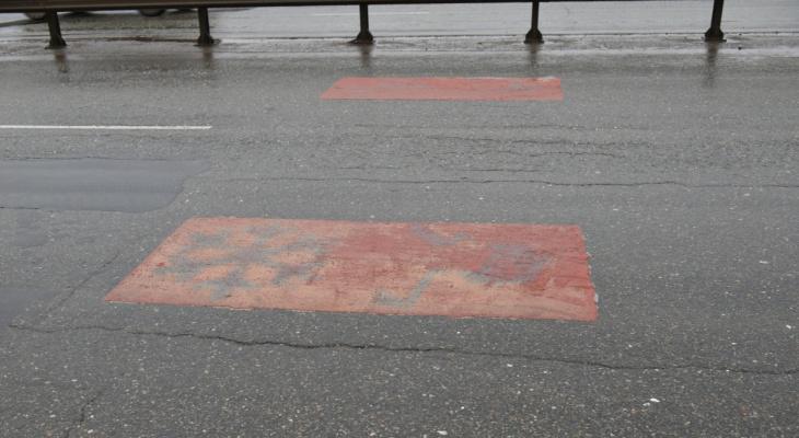 разметка красные квадраты в кирове