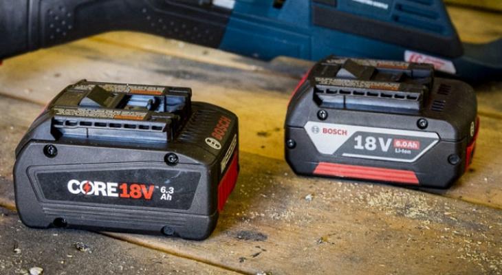 Обзор улучшенных аккумуляторных батарей Bosch Core 18V