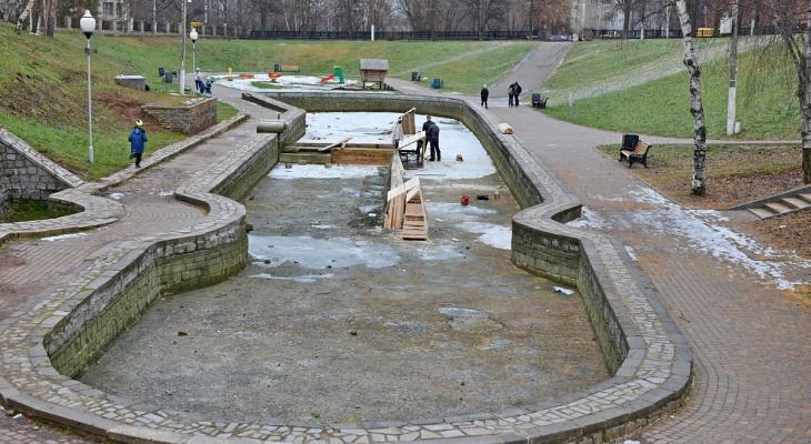 Все фонтаны в Кирове законсервировали на зиму