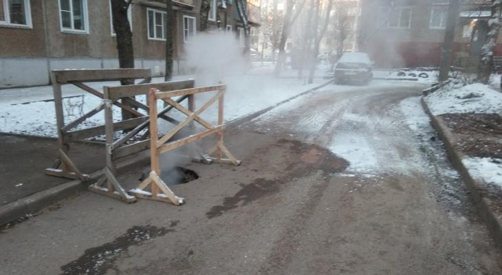 Жители 15 домов в Кирове в мороз остались без отопления
