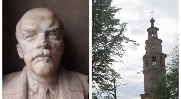 Бюст Ленина обменяли на стройматериалы для ремонта церкви в Яранском районе