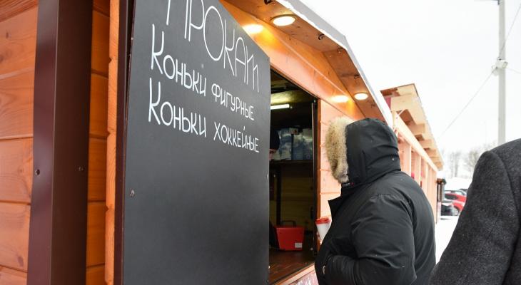 Известно, на каких общегородских катках Кирова организуют прокат коньков