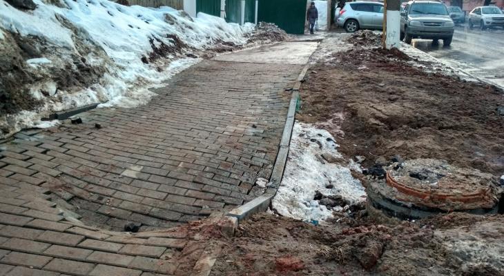 Список мест, где кировчане могут проголосовать за ремонт тротуаров