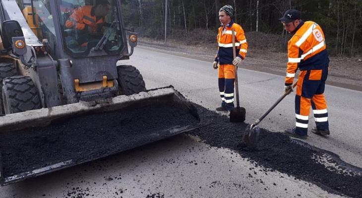 Трассу Киров - Пермь начали ремонтировать