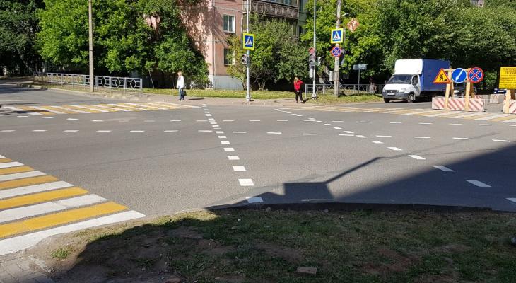 В Кирове появился перекресток с уникальной для города разметкой