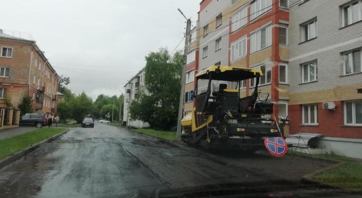 Ремонт за 11 миллионов: прокуратура заинтересовалась укладкой асфальта в Кирове во время дождя