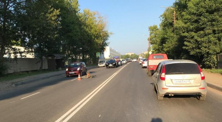 В Кирове Nissan сбил 13-летнего велосипедиста: ребенок в больнице