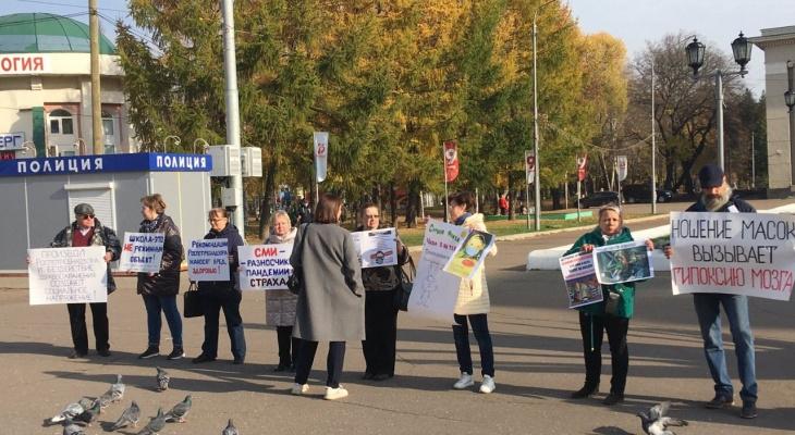 Кировские «ковид-диссиденты» устроили очередной пикет у Филармонии