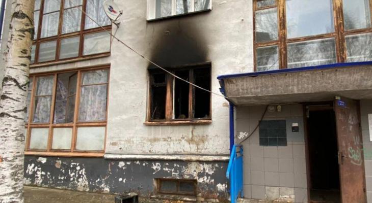 В центре Кирова в пожаре пострадала женщина