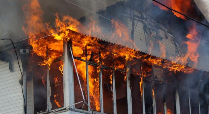 Утром в Кировской области в пожаре погиб мужчина