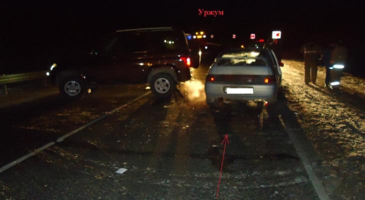 Из-за заноса на трассе в Кировской области произошло массовое ДТП