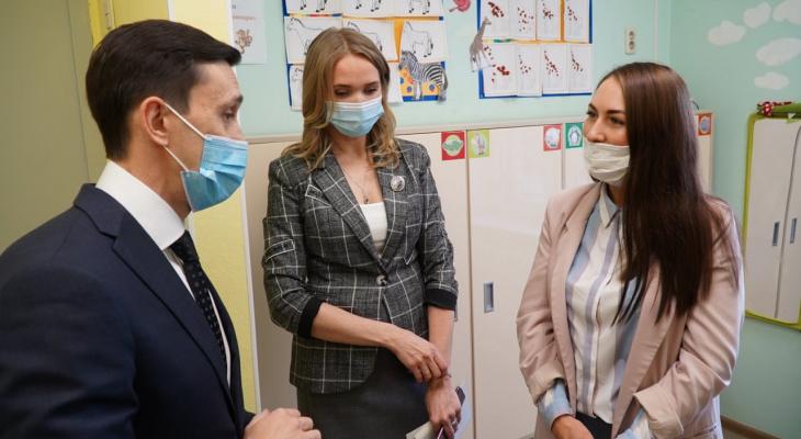 Дмитрий Курдюмов посетил частные детские сады, которые принимают детей по путевкам