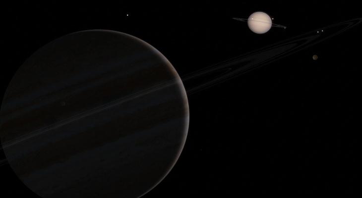 """В Кировской области можно будет наблюдать """"великое соединение"""" Юпитера и Сатурна"""