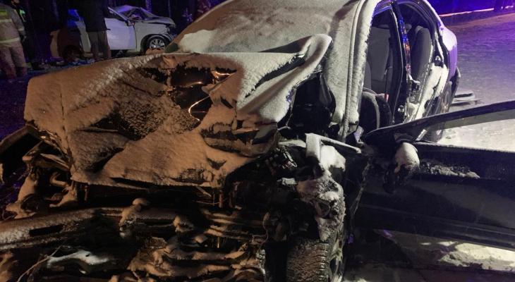 В массовой аварии в Кирово-Чепецком районе погибли 3 человека