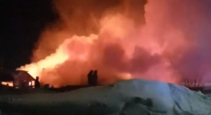 """""""Люди выбегали в одних носках"""": видео страшного пожара в Садаковском"""