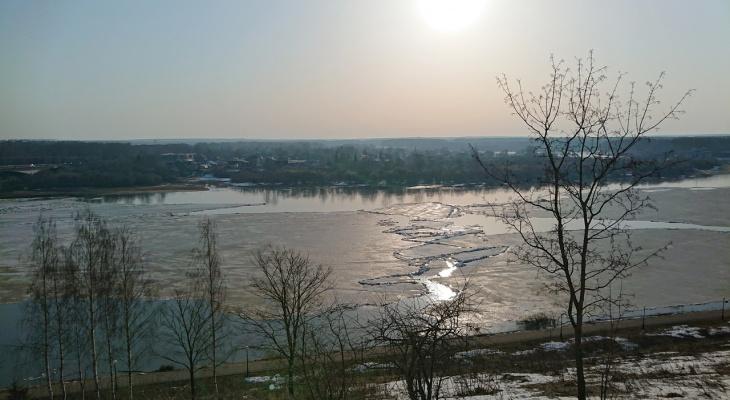 В реке Вятке увеличился уровень воды на 64 сантиметра за сутки