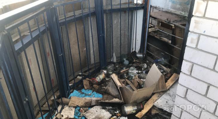 В Чистых прудах загорелась лоджия на 16 этаже