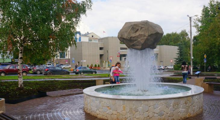 Сезон открыт: в Кирове заработали уличные фонтаны
