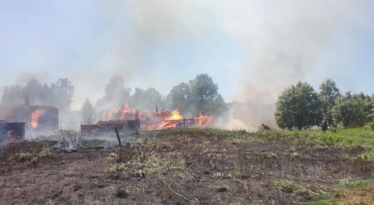 «В селе сгорели пять домов»: в Кировской области за сутки в пожарах погибли двое мужчин
