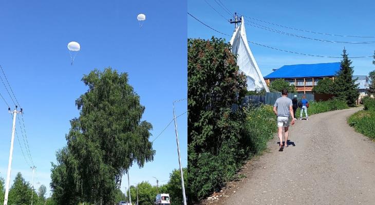 В Кировской области парашютист пострадал, приземлившись на крышу дома