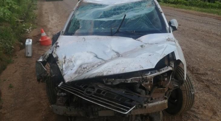 В Кировской области в ДТП на трассе пострадали три человека
