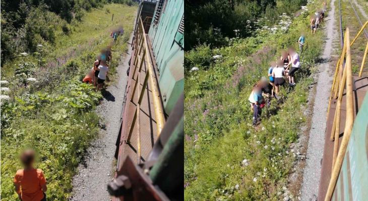 В Кировской области машинисту пришлось экстренно затормозить из-за детей на путях