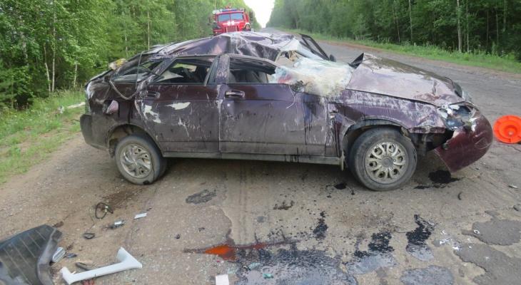 В Кировской области за сутки на трассах опрокинулись три автомобиля