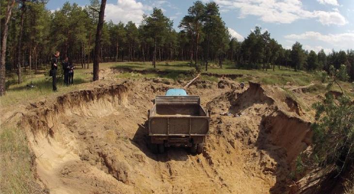 В Кировской области незаконно добыли песок на 3 миллиона рублей
