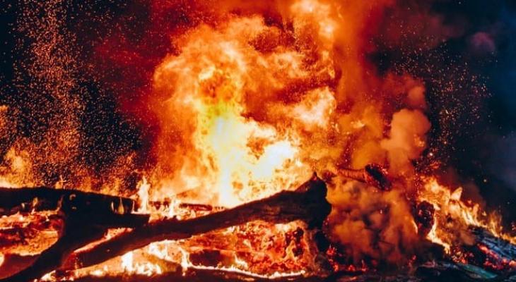 В Орловском районе огонь унес жизни двух человек