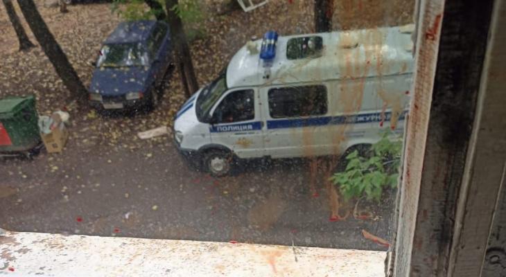 В Кирове мужчина выкинул из окна сожительницу и стал добивать ее на улице