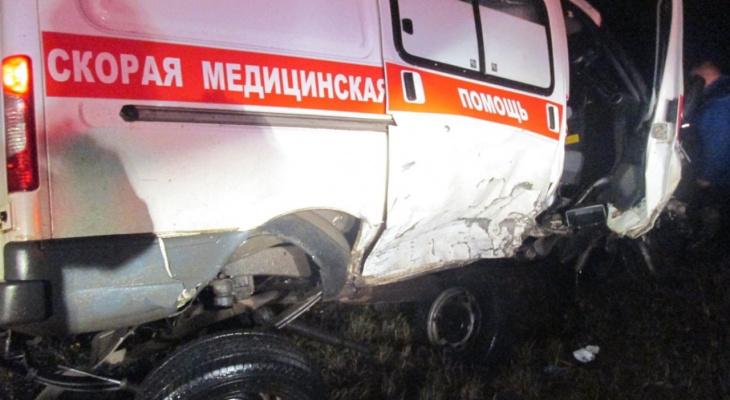 В Слободском районе пьяный водитель на иномарке въехал в машину скорой помощи