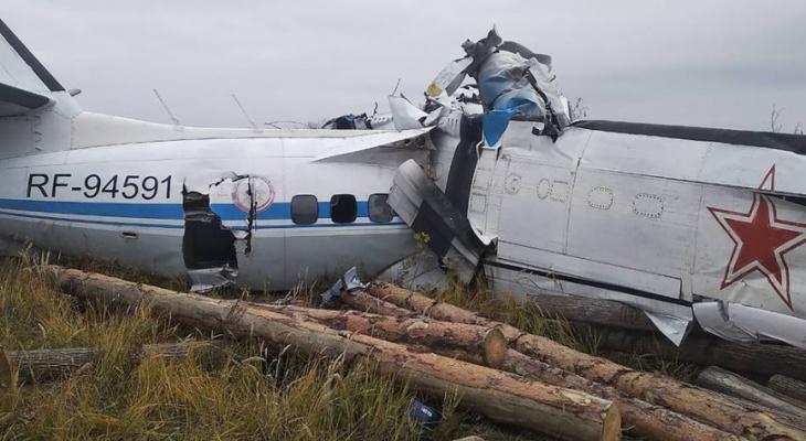 Момент крушения самолета с жителем Кировской области попал на видео
